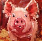 "Daily Paintworks - "" Fresh Start"" - Original Fine Art for Sale - © Patty Voje Cow Painting, Painting & Drawing, Animal Paintings, Animal Drawings, Pig Crafts, Pig Art, Farm Art, Galo, Fine Art Auctions"