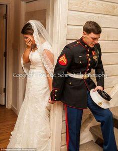Marine and Bride Say a Prayer before Wedding on Memorial Day Weekend Dwayne Schmidt Photography Wedding Bells, Wedding Ceremony, Our Wedding, Dream Wedding, Wedding Prayer, Army Wedding, Wedding Vendors, Trendy Wedding, Military Love