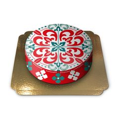 Art with inspiration from Morocco by Pia Lilenthal, BlondZebra, printed on a cake.