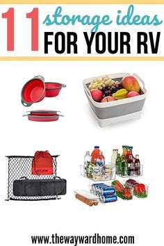 Want to get better miles out of your RV kitchen? Check out these storage hacks to organize your motorhome. Camping Storage, Rv Storage, Rv Camping, Storage Hacks, Glamping, Camping Stuff, Storage Ideas, A Frame Camper, Motorhome Living