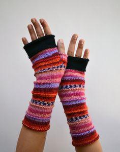 Fingerless Gloves  Merino Fingerless Gloves  by lyralyra on Etsy