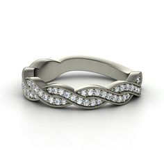 14K White Gold Ring with Diamond