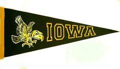 "30"" Flying Herky Iowa Wool Felt Pennant by Collegiate Pacific�"