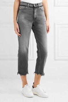 Golden Goose Deluxe Brand - Komo Cropped High-rise Straight-leg Jeans - Gray - 27