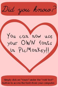 Custom Fonts on PicMonkey - you can now use your own custom fonts!!