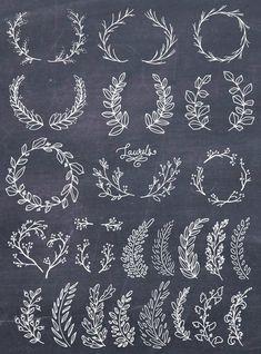 Lettering Fonts Discover Laurel Wreath Clipart Wreath Clip Art Laurel Wreath PNG Botanical Clipart Hand Drawn Clip Art Floral Wreath Vector PNG Commercial Use Brosses Photoshop, Photoshop Brushes, Art Floral, Embroidery Patterns, Hand Embroidery, White Embroidery, Web Design, Logo Design, Lettering Design