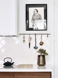Säker stilmix med vacker vintage och moderna inslag