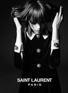 saint laurent 2014 fall winter campaign2 First Look | Valery Kaufman by Hedi Slimane for Saint Laurent Fall 2014 Campaign