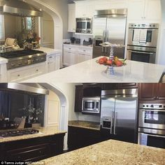 'Love my New white & grey kitchen': Over the weekendThe 48-year-old reality star posted a ...