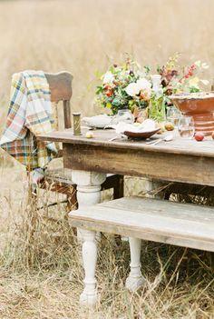 Thanksgiving Wedding Inspiration - Feast in the Field   Wedding Sparrow   Sleepy Fox Photography