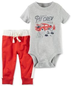 Carter's 2-Pc. Daddy's Pit Crew Bodysuit & Pants Set, Baby Boys (0-24 months)   macys.com