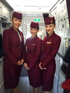 Qatar Airbus A350 Delivery Flight Attendants