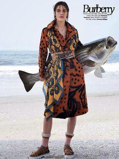 """""""Fishing Season"""" Hilary Rhoda by Zee Nunes for Vogue Brazil August 2014"""