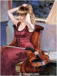 Gallery of artist Vladimir Volegova, portraits of very beautiful women.