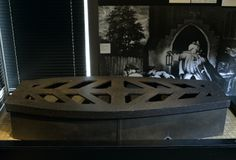 """Iron Mortsafe, 1816 """"Bodies for dissection were in short supply in the early 1800s as only executed criminals could be dissected legally. Body-snatchers, also known as 'resurrectionists', robbed the graves of the newly deceased, often in the middle of the night, and then sold the corpses to anatomists. First appearing in 1816, Mortsafes protected the dead. In this example, the sheer weight of the lid was expected to put off even the most desperate body-snatcher."""""""