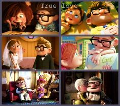 Disney's Up! Carl and Ellie <3 true love indeed.
