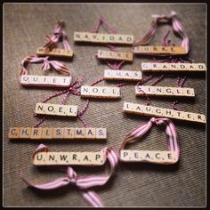 Christmas scrabble decorations