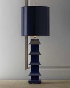 """Lacquered """"Pagoda"""" Lamp at Horchow. #popculture #horchow #homedecor"""