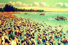 Beach decor Art Deco Swim print