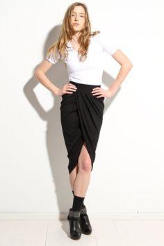 Womens Black Skirt Intermix Shift Skirt Fall Fashion