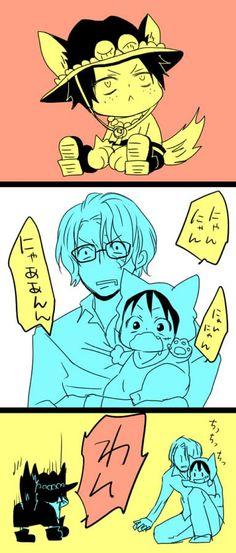So cuuutteeeeee but Sabo you acting like a kidnapper  - ASL