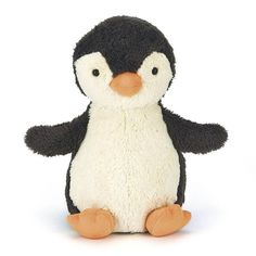 Peanut Penguin plush soft toy by Jellycat. Adorable, snuggly, vintage-inspired penguin in the baby-softest fur, with a friendly face and...