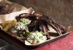 Bluebonnet Barbecue Rises from the Ashes at a Beloved Local - Food & Drink - Broadsheet Melbourne Melbourne Restaurants, Rise From The Ashes, Blue Bonnets, Barbecue, Food And Drink, Tasty, Fire, Trays, Google Search