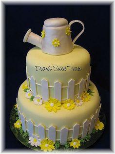 watering can garden shower cake by Diane's Sweet Treats - (Diane Burke), via Flickr
