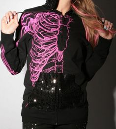 wishbone sequined hoodie~ Iron Fist
