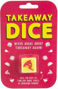 Takeaway Dice For No More Arguments – Tyfinder Take Out, How To Find Out, Stress Cube, Stocking Stuffers For Her, Small Candles, Craft Materials, Gag Gifts, Mini Books, Cool Gifts