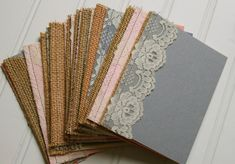 for you, Caroline- 90 Burlap and Lace Wedding Programs