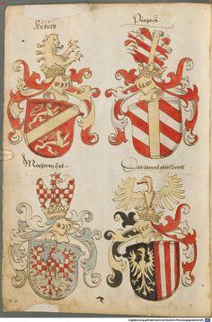 Tirol, Anton: Wappenbuch Süddeutschland, Ende 15. Jh. - 1540 Cod.icon. 310  Folio 2v