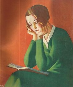 Oma Koti, woman reading March by Martha Wendelin (Finnish. Reading Art, Woman Reading, I Love Reading, People Reading, Book People, Female Images, Female Art, I Love Books, Good Books