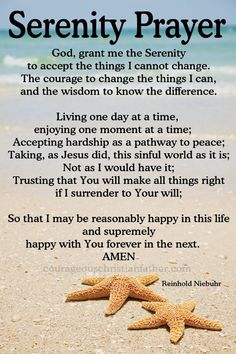 I share the Serenity Prayer with you. This prayer is common prayer for Celebrate Recovery, 12 Step Programs, and AA. Plus it is on the Christian faith-based Movie, Home Run. Prayer Scriptures, Bible Prayers, Faith Prayer, Prayer Quotes, My Prayer, Bible Quotes, Bible Verses, Prayer Of The Day, Prayer Of Healing