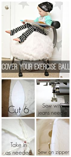 Cover your exercise ball -- a tutorial Because we all know that exercise ball is ugly.