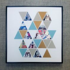Geometric Decor Idea: Create a photo collage with photos and the Pennant Punch!