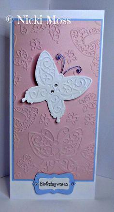 Made by Nicki Moss #tatteredlace #cardmaking #birthdaycard
