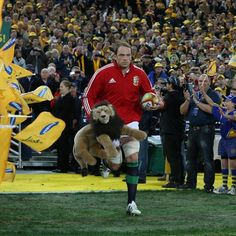 Second row Alun Wyn Jones led the British and Irish Lions out for the series decider at ANZ Stadium British And Irish Lions, Rugby Players, The Row, Led