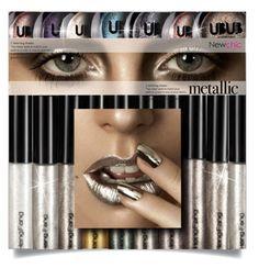 """Shine On: Metallic Makeup( newchic beauty 10)"" by meyli-meyli ❤ liked on Polyvore featuring beauty and newchic"