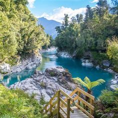 Hokitika Gorge, Kokatahi, New Zealand — by MapNomads. If all you're looking for is a slice of paradise, look in Hokitika Gorge. Nz South Island, New Zealand South Island, New Zealand Adventure, New Zealand Travel, Places To Travel, Places To See, Travel Destinations, Travel Tips, New Zealand Holidays