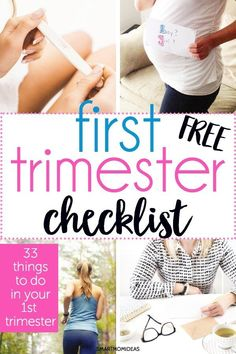 Get organized for baby and enjoy your first trimester with this helpful checklist Congratulations, mama! You're pregnant!! Whether it's a complete surprise or a long hoped dream come true, this… Trimesters Of Pregnancy, First Pregnancy, Pregnancy Tips, Pregnancy Checklist, Pregnancy Style, Pregnancy Fashion, Pregnancy Outfits, Maternity Fashion, Pregnancy Months