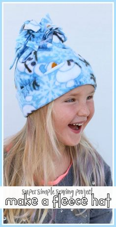 how to make a Super Simple Fleece Hat – beginner sewing project, only 1 seam! … how to make a Super Simple Fleece Hat – beginner sewing project, only 1 seam! Great winter craft idea, also great gift idea! Sewing Hacks, Sewing Tutorials, Sewing Crafts, Sewing Tips, First Sewing Projects, Sewing Projects For Beginners, Sewing Patterns Free, Free Sewing, Sewing Designs
