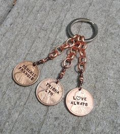 https://www.etsy.com/listing/294239607/hand-made-personalized-penny-keychain?ref=shop_home_active_1 #etsy #penny #goodluck
