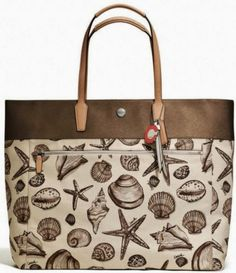Coach Resort Seashell Print Shoulder Bag Tote F27782 RT $298 Tax Sold Out | eBay