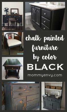Chalk Painted Furniture by Color Series - BLACK | Black chalk paint can turn any piece into a classy looking project! | www.mommyenvy.com