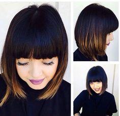 Cute cut with bangs and bob