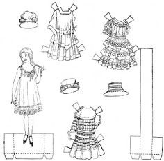 Globe paper doll 6-3-17 Mittie Lee / mostlypaperdolls