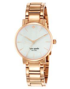 €388, Reloj Dorado de Kate Spade. De Asos. Detalles: https://lookastic.com/women/shop_items/131772/redirect