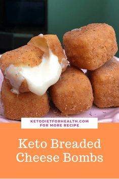 Keto Breaded Cheese Bombs - KetoDietForHealth (Fried cheese) - Can use other types of cheese. Keto Breaded Cheese Bombs - KetoDietForHealth (Fried cheese) - Can use other types of cheese. Desserts Keto, Keto Snacks, Keto Fat, Low Carb Keto, Ketogenic Recipes, Low Carb Recipes, Ketogenic Diet, Bread Recipes, Ketos Diet