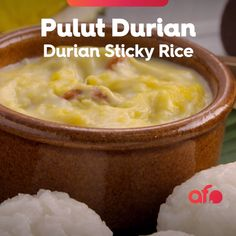 Are you planning to try an authentic Thai dessert at home? The famous Pulut Durian is a great choice! Try this delicious glutinous rice with durian pudding at home today! No Salt Recipes, Cooking Recipes, Durian Recipe, Asian Snacks, Indian Street Food, Indian Desserts, Whole 30 Recipes, Food Network Recipes, Asian Recipes